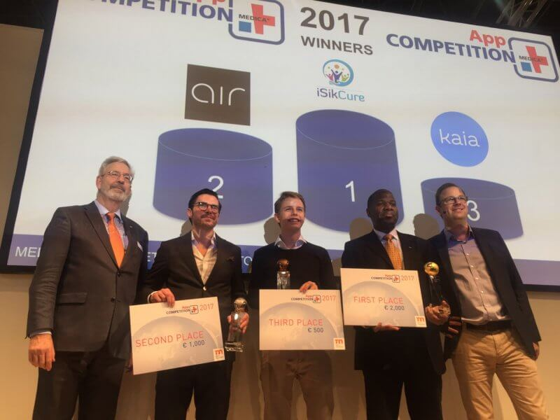 KENYAN SOLUTION ISIKCURE WINS MEDICA APP COMPETITION 2017